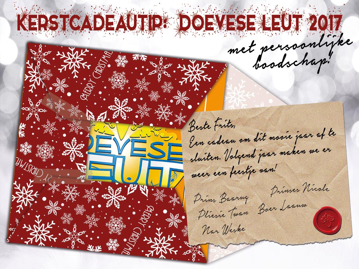 Kerstcadeutip:CD D'oevese Leut Met Persoonlijke Boodschap!