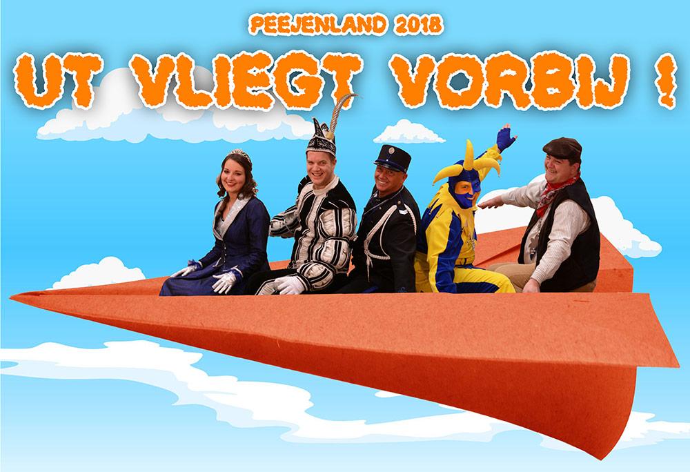 Motto Peejenland 2018: Ut Vliegt Vorbij!